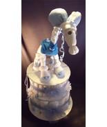 Blue GIRAFFE Baby Shower Gift Boy Diaper Cake C... - $48.00