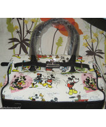 Disney mickey mouse Minnie white cartoon handbag purse theme park retired NEW !! - $34.95
