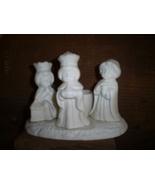 Porcelain Bisque Votive Candle Holder, Three Kings - $6.00