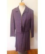 PENDLETON Wms Purple Tweed 100% Wool Skirt Shor... - $29.50