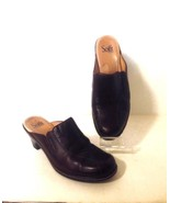 SOFFT Women's Brown Leather Clogs Shoes 2.5