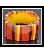 Multicolor Lucite Bangle Fall Colors - $12.00