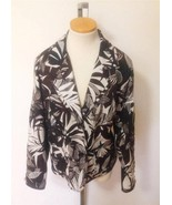 CHICO'S Wms Brown Black White 100% Silk Lined J... - $22.50
