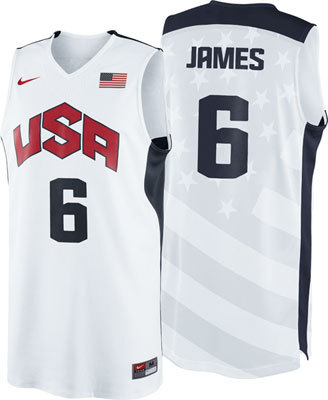Brand New Lebron James #6 USA 2012 Olympic Basketball Team Swingman Jersey S-XXL
