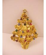 Vintage Christmas Xmas Tree Pin Brooch Textured... - $19.59