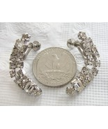 Boomerang Rhinestone Vintage Screw Back Earring... - $14.69