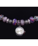Figaro Couture Silver Tone Purple Flower Beads ... - $24.99