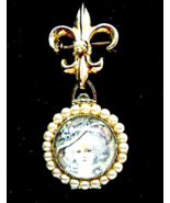 Coro 4 Picture Locket Brooch Pearl Marie Antoin... - $46.00
