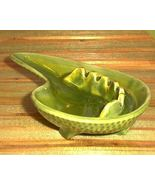 60s Mod Cal Style ceramic Ashtray Avacado Green... - $12.00
