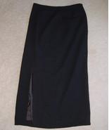 Jones New York Skirt Long Black Wool Misses 6 L... - $15.00