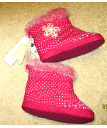 NWT CARTER'S SLIPPERS BOOTS Fuchsia Pink Fleece... - $9.80
