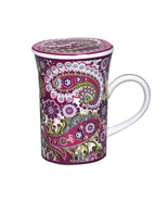 Very Berry Paisley Covered Porcelain Coffee Mug Vera Bradley Andrea by Sadek NIB