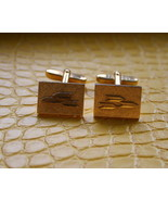Men vintage gold tone chevron arrows cufflinks ... - $16.99