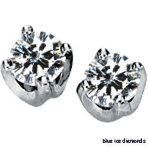 Moissanite Stud Earrings Solstice Solitaire 6 Ct 14K
