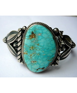 Navajo Sterling Bracelet with Turquoise, Twiste... - $425.00