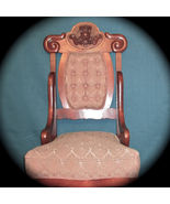 Outstanding Carved Victorian Chair w/Tufted Uph... - $350.00