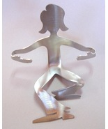 Girl Sitting Woman Business Card Holder Unique ... - $20.00