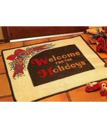 Y719 Crochet PATTERN ONLY Holiday Welcome Rug P... - $7.45