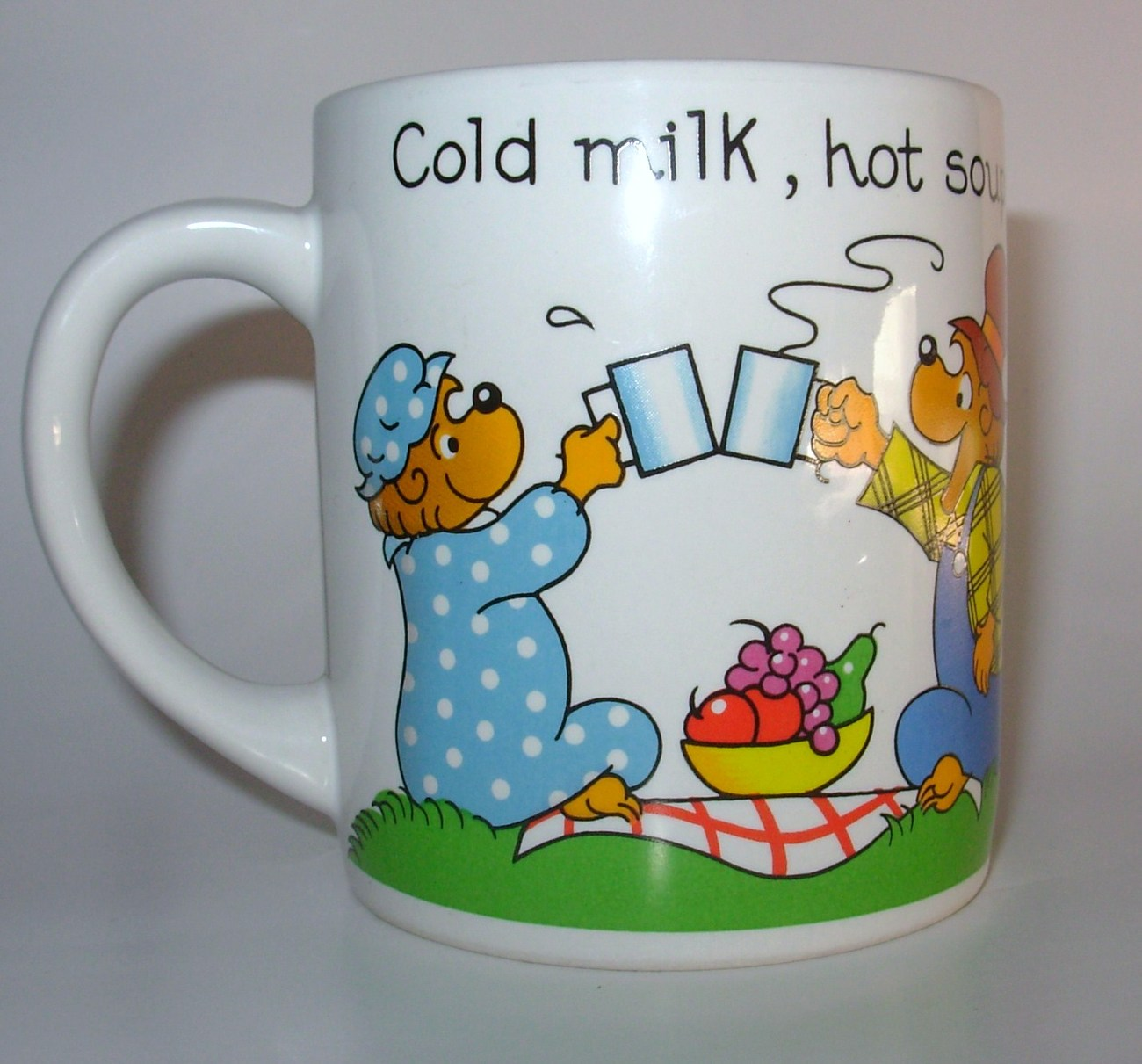 Berenstain Bears Coffee Cup Mug Ice Cream Soda Graphic Vintage