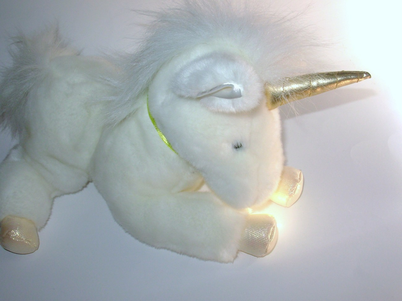 Aurora Flopsies Unity Unicorn Plush Stuffed Animal White Gold Flower Ribbon Tags