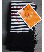 One Pair Black and White Striped thigh high lad... - $5.99