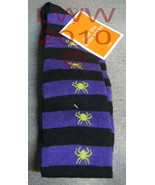 1 Pair Black and Purple Striped Over knee ladie... - $4.99