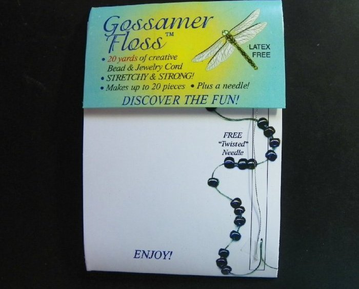 Gossamer Floss for Stretchy Bracelets, 20 yards-Latex Free