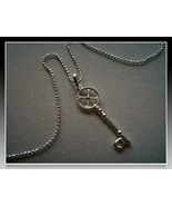 Sterling Silver Skeleton Key Pendant with 18 in... - $17.99