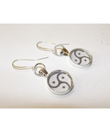 Silver BDSM Emblem Earrings - $16.00
