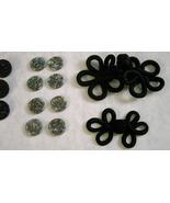 39 Buttons Frogs Vintage Jet Black Stain Glass ... - $18.00
