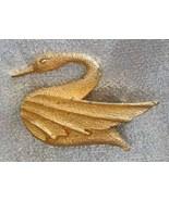 DFA 70s Delightful Art Moderne Goldtone Swan Br... - $9.00