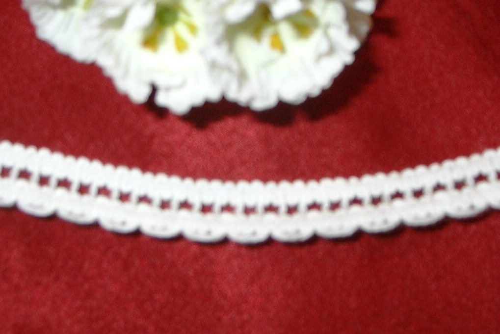 5 YARDS IMPORTED FRENCH WHITE100% COTTON ENTREDEUX LACE TRIM
