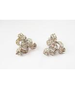 Rhinestone Clip Earrings. Bogoff. Circa Early 1... - $27.00