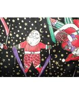 Ugly Christmas Sweater Vest Skiing Santas Color... - $8.99