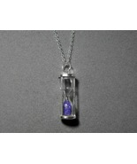 Sterling Silver Hourglass Pendant Amethyst inc ... - $30.00