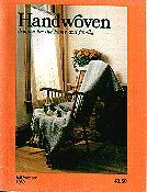 Handwoven Magazine 1980 -  Fall