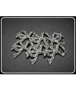 Vintage Buttons Rhinestones Bows Metal Set 6 Bu... - $21.00