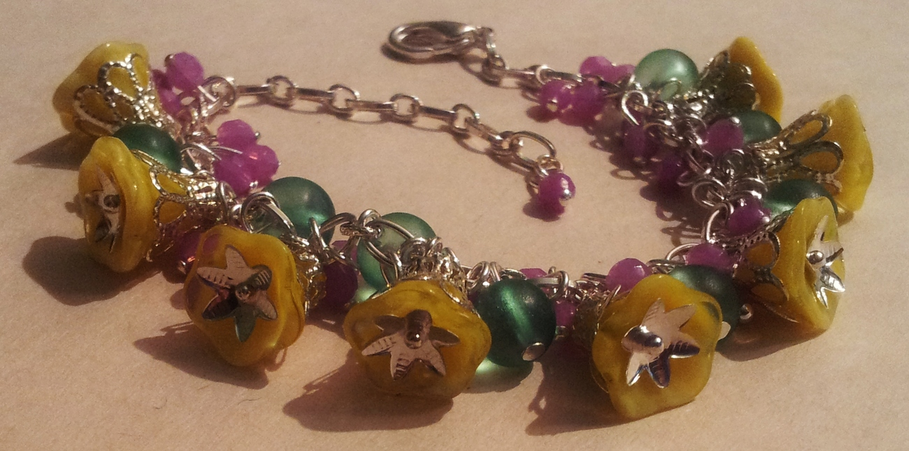 Yellow Flower bracelet