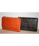 NW SOFT LEATHER LADIES WOMEN MIDI WALLET L@@K! - $22.99