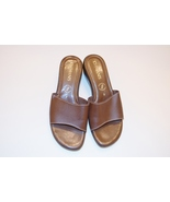 Damiani's Brown Leather Sandals - Slides - Size 7 - $30.00