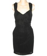 McGinn Alexis Eyelet Little Black Dress Sz 8 Sl... - $99.00
