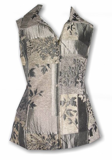 Coldwater Creek ~NEW~ Jacquard Patchwork Vest ~XS