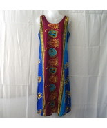 Long 2XL sleeveless rayon dress in royal blue, ... - $11.00