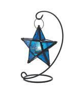 Blue Glass Star Lantern Stand - $20.00