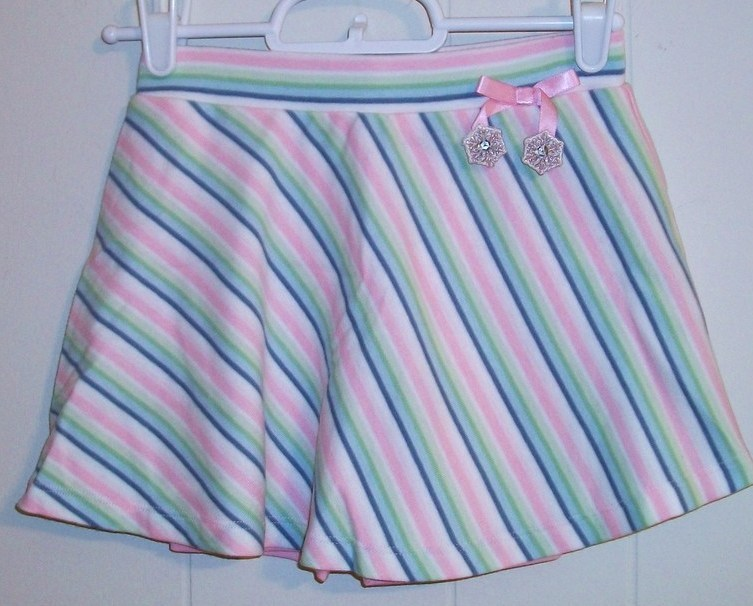 Gymboree Snow Princess Stripe Snowflake Skort 5