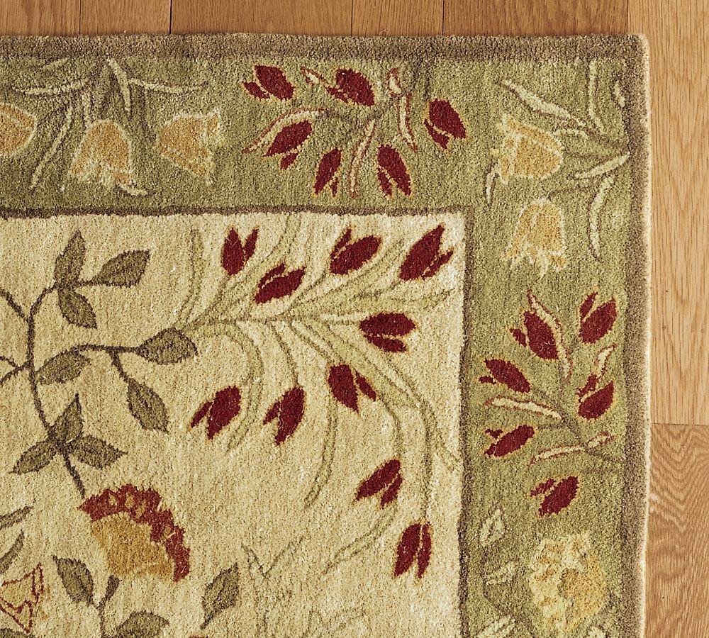 New pottery barn handmade adeline multi area rug 5x8 rugs carpets - Discontinued pottery barn rugs ...
