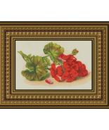 Red Geranium, Nostalgia Counted Cross Stitch Pa... - $10.00