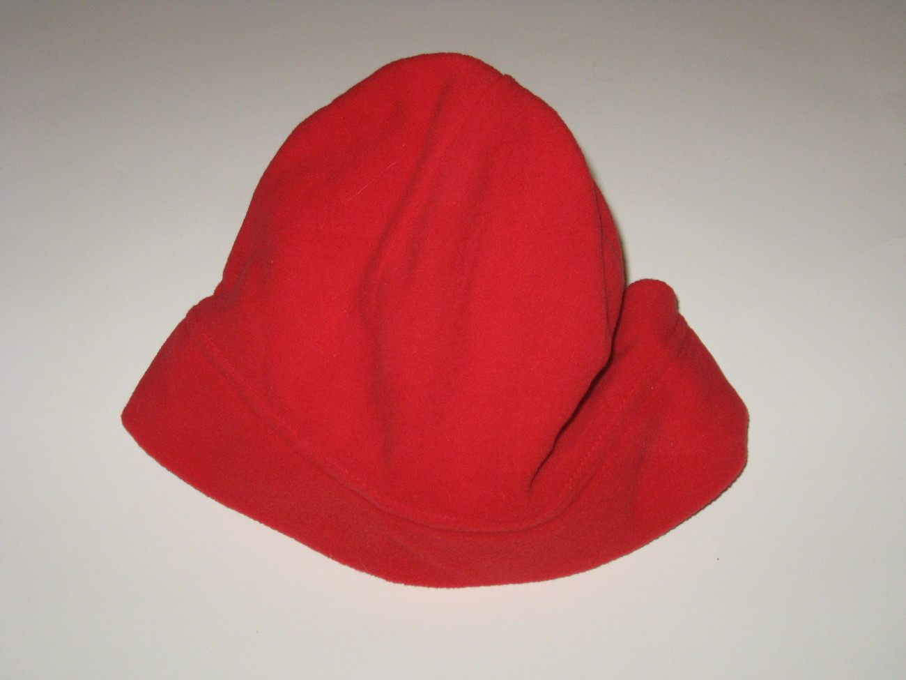 Lands End Nantex Fleece Red Beanie Cap Hat New One Size