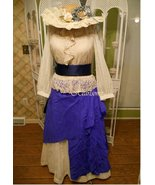 Victorian Prairie dress skirt vest hat costume ... - $130.00