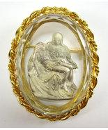 Mary Holding Jesus Brooch Pin, Joseph Warner, P... - $98.88